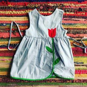 Vintage Girls Tulip Dress 2T 3t